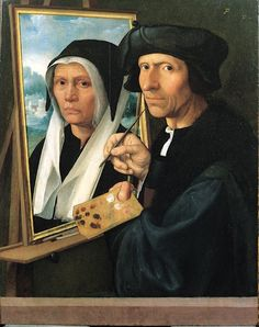 Jacob Cornelisz van Oostsanen (1470 - 1533) pinta sua esposa Anna