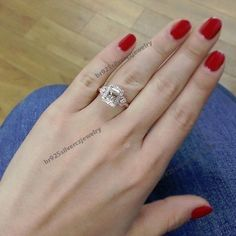 1.51Ct Vintage Look Diamond Engagement Ring Princess Cut 14K Rose Gold Plated #br925silverczjewelry #EngagementRing