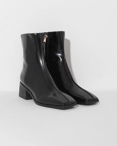 4e42ff3e74c3d Suzanne Rae Boot in Black Spazzolato Leather