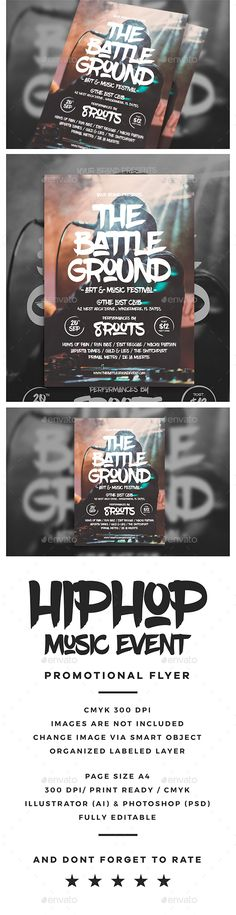 Hip Hop Event Flyer — Photoshop PSD #event poster #music • Available here → https://graphicriver.net/item/hip-hop-event-flyer/19472189?ref=pxcr