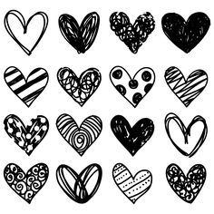 Free Doodle Heart Clip Art – Free Pretty Things For You – Valentines Day İdeas 2020 Doodle Drawings, Easy Drawings, Doodle Art, Love Doodles, Heart Clip Art, Heart Doodle, Art Diary, School Signs, Chalkboard Art
