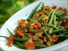 southern green beans & potatoes with bacon | ChinDeep