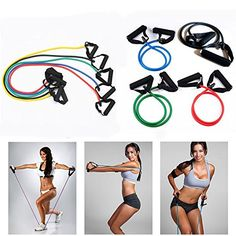 Exercise Latex Resistance Bands Pilates Tube Workout Gym Yoga Fitness Stretch *** Learn more by visiting the image link.
