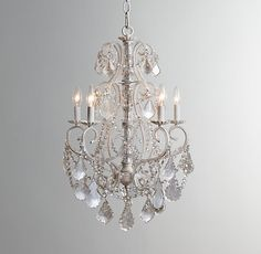 Aislynn Mercury Glass 5-Arm Chandelier White Sent this image for approval