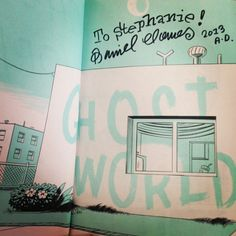 Gotta have room for my signed copy of Ghost World!