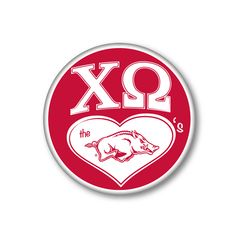 Chi Omega - Game Day Design - Chi O - Sorority shirts - Sorority buttons - Razorback Chi Omega - Check out b-unlimited.com!