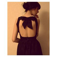 Black dress with open back – BurdaStyle.com