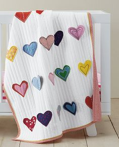 Reversible Hearts Aflutter Quilt | by Hanna Home
