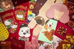 We feature the red packets for the year of the Dog. Over 100 designs. Some feature very cute doggies while others are simple yet elegant. Check them out.