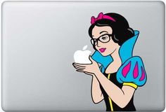 Snow White  - Mac Decal Macbook Stickers Macbook Decals Apple Decal  Macbook Pro Sticker Macbook Air  iPad2 Decals. $8.50, via Etsy.