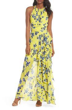 Halter Ruffle Maxi Dress Fall Dresses, Sexy Dresses, Summer Dresses, Fashion Dresses, Petite Dresses, Club Dresses, Evening Dresses, Floral Frocks, Floral Maxi