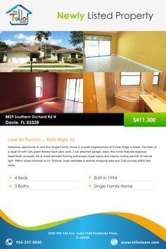 8829 Southern Orchard Rd N  Davie, FL 33328