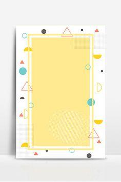 Light yellow e-commerce Memphis geometric style background panel design Poster Background Design, Book Background, Lights Background, Background Templates, Bullet Journel, Memphis Design, Poster Design Inspiration, Sign Design, Blue Backgrounds