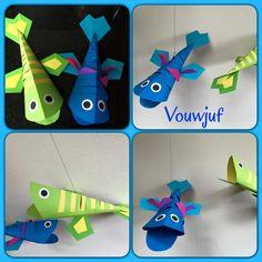 Vissen 3D - vliegers Crafts To Do, Paper Crafts, Caribbean Party, School Parties, Christen, Diy For Kids, Website, Creative, Ebay