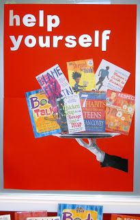 Library Displays: help yourself with self help YA books