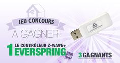 #CONCOURS: Gagnez un dongle Z-wave Everspring (3 gagnants !) - http://blog.domadoo.fr/60802-concours-gagnez-dongle-z-wave-everspring-3-gagnants/