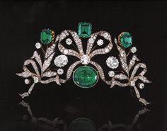 Emerald and Diamond Tiara circa 1970