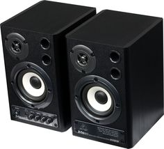 PC, studio monitor speakers