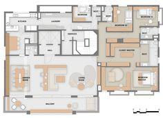 Imagem 20 de 26 da galeria de Apartamento Jardim Europa / Perkins+Will. Planta (Inglês)