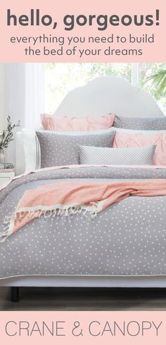 From chic bedding and beautiful statement duvet covers, find gorgeous bedding to build the bedroom of your dreams. Named the best site for bedding by HGTV. Dream Rooms, Dream Bedroom, Home Bedroom, Girls Bedroom, Master Bedroom, Bedroom Decor, Bedroom Ideas, My New Room, My Room