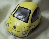 Volkswagen Yellow Car Rock
