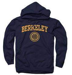 University Of California Berkeley Arch And Seal Men's Hoodie - Navy-Shop College Wear