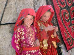 Wakhan 256 Kashch Goz | Wakhan 256 Kashch Goz  Kyrgyz girls outside their yurt at Kashch Goz. Part of the Kyrgyz population of the Little Pamir in the Wakhan.