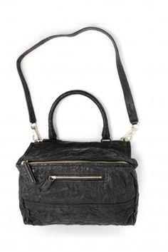 Givenchy Pandora bag medium black. Sheep leather hand bag or shoulder bag  in black color fc560cf40518d