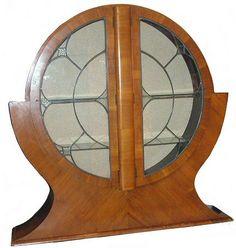 Original 1930's Art Deco china display cabinet.