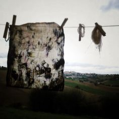 Landscape and cloth in dialogue | copyright Sheila Rocchegiani