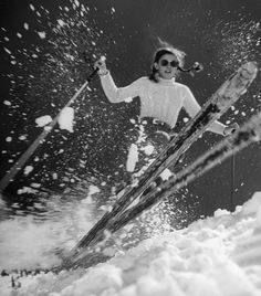 Women of the Winter Olympics: Amazing Athletes in Action: Fifteen-year-old Andrea Mead Lawrence, the first American alpine skier to win Olympic gold, training in George Silk—Time & Life Pictures/Getty Images Vintage Ski Posters, Time Pictures, Ski Season, Alpine Skiing, Ski And Snowboard, Winter Fun, Winter Christmas, Winter Olympics, Tarzan