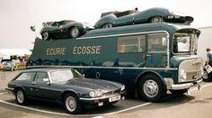 Die Idee für einen passenden Transporter, um die Schottlands Rennwagen-Grazien von Circuit zu Circuit zu transportieren, entstand in den späten Fünfzigerjahren, gleich nach dem zweiten Erfolg des Team aus Edinburgh beim 24-Stunden-Rennen in Le Mans. Als Basis wurde ein LKW des ehemaligen britischen Nutzfahrzeug-Herstellers Commer verwendet, und mit Unterstützung der Ecurie Ecosse Association und zahlreicher weiterer Sponsoren wurde der herkömmliche Truck bei Walter Alexander & Company of…