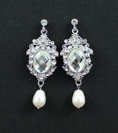 BRIDAL Earrings Crystal Chandelier Earrings Wedding by JamJewels1 ...