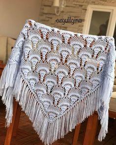 Best 10 white wedding crochet shawl / crochet shawl scarf by senoAccessory – SkillOfKing. Crochet Scarf Diagram, Crochet Baby Dress Pattern, Crochet Coat, Crochet Flower Patterns, Crochet Clothes, Easy Knitting Patterns, Crochet Stitches Patterns, Stitch Patterns, Crochet Wedding