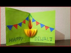 The ultimate list of DIY Diwali card ideas for kids to Diwali card making ideas - Artsy Craftsy MomDiwali Pop-up Card Making for Kids Easy Diy Diwali Cards, Handmade Diwali Greeting Cards, Diwali Card Making, Card Making For Kids, Diwali Diy, Diwali Craft, Happy Diwali, Holiday Crafts For Kids, Paper Crafts For Kids