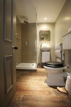 Corner Shower Ideas Transitional bathroom The Wheatsheaf Innis free HD Wallpaper. Thanks for you visiting Corner Shower Ideas Transition. Wood Floor Bathroom, Loft Bathroom, Family Bathroom, Grey Bathrooms, Bathroom Interior, Modern Bathroom, Small Bathroom, Bathroom Cladding, Brown Bathroom