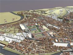 Campus Martius Ancient Rome | The Campus Martius, the area of flat land in the loop of the River ...