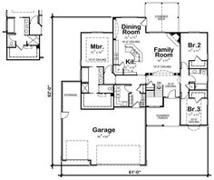 1000 images about 3 bedroom houses on pinterest simple for Medium house plans