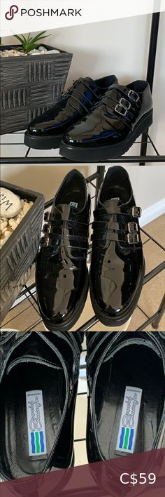 Shop Women's Arnold Churgin Black size 10 Flats & Loafers at a discounted price at Poshmark. Description: Worn once outside, Perfect condition black patent shoes from Arnold CHURGAN. Black Patent Shoes, Patent Loafers, Loafer Flats, Plus Fashion, Fashion Tips, Fashion Trends, Louis Vuitton, Sneakers, Things To Sell