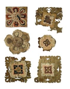 "Collaged Flowers, Tang Dynasty (9th-10th c. AD), ""retrieved"" from Cave 17, Mogao, near Dunhuang, Gansu Province, China by Sir Auriel Stein"
