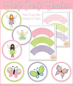 Fairy Party Cupcake Printables. Free!