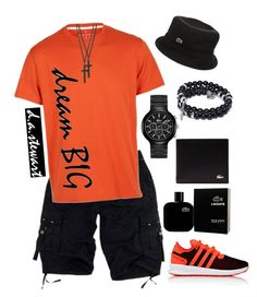 """""""SUMMER 2017"""" by dastewart on Polyvore featuring adidas, Lacoste, Dsquared2, men's fashion and menswear"""