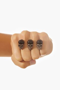 Skull Two-Finger Ring