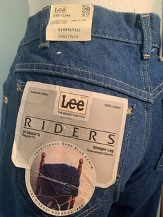 Rider Jeans, Vintage Jeans, Denim Jeans, Dark Blue, Joker, Menswear, Packaging, Tags, Medium