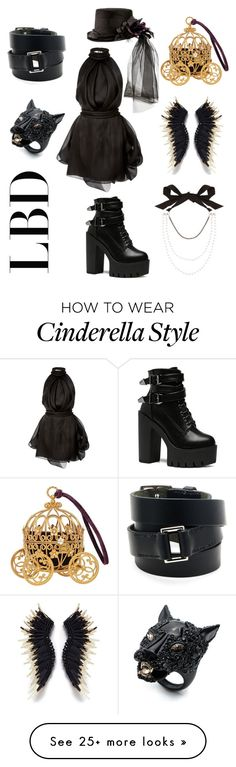 """""""Little black dress"""" by liyamay28 on Polyvore featuring Brandon Maxwell, Lanvin, Hermès and Alexis Bittar"""