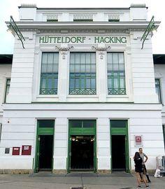 Otto Wagner, Art Nouveau Architecture, Train Stations, Facade Design, Facades, Bathroom Interior, Vienna, Austria, Art Deco