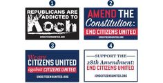 FREE End Citizens United Sticker on http://www.icravefreestuff.com/