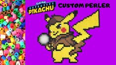 Today I'm putting together a Perler Bead pattern of Detective Pikachu! Hama Beads, Pokemon Perler Beads, Perler Bead Art, Beading Patterns, Cartoon Characters, Detective, Stuff To Do, Minecraft, Pikachu