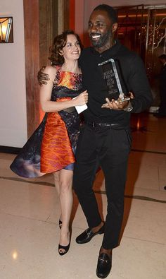Luther stars Idris Elba and Ruth Wilson reunite on the red carpet ...