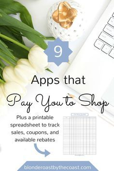 9 Apps that Pay you to shop plus a Printable Deal Stacking Spreadsheet!! How to save money shopping for groceries, alcohol, and more!!